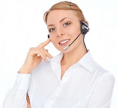 Phone operator in headset