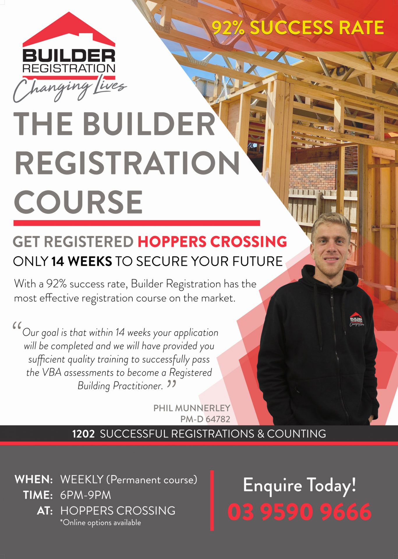 Builders Registration Course Hoppers-Crossing